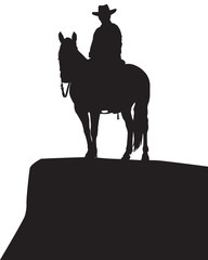 Cowboy in Silhouette 2