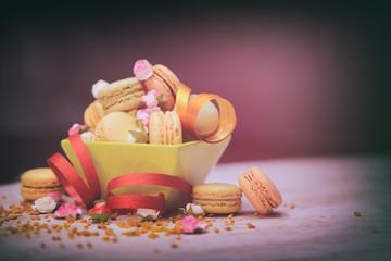 macaron rose,pâtisserie