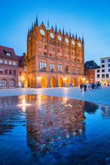 Historic town of Stralsund at twilight, Mecklenburg-Vorpommern, Germany