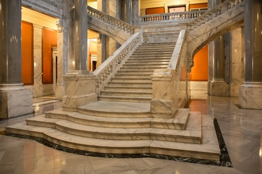 Marble Staircase and Columns