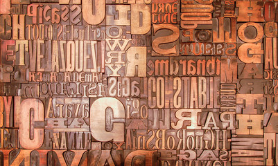 Alphabet print letters character