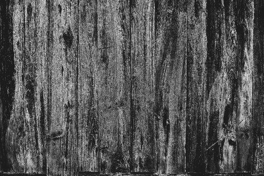 Distressed wood overlay texture. Abstract monochrome background. Grunge wooden planks messy background for design.