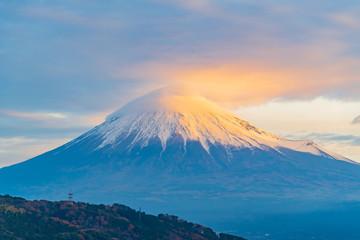 朝焼けの富士山 日の出 早朝