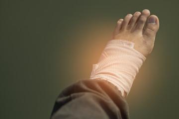 anfle sprain, legs hurt, can  not walk, leg sprain