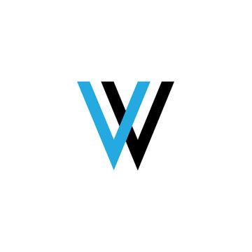 letter vv logo vector