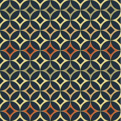 Japanese pattern vector. Circle background.