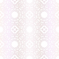 Pastel color Seamless Pattern With Floral Ornament. For Design, Wallpaper, Textile Industry. Vector