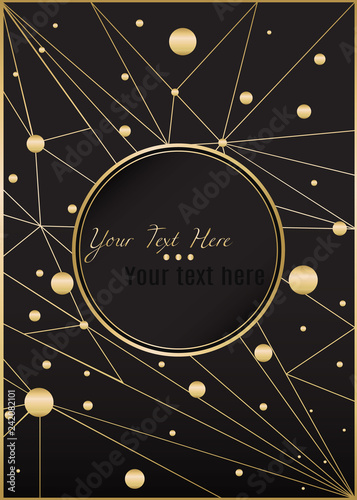 Low poly black dark-gray abstract background, polygonal shapes
