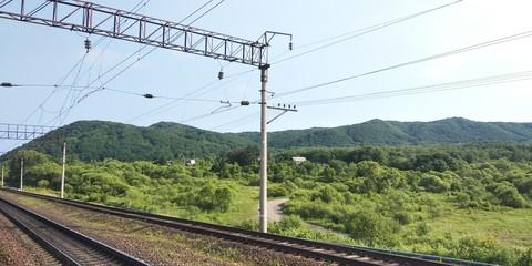 train on railway