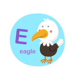 Illustration isolated alphabet letter e-eagle vector illustration