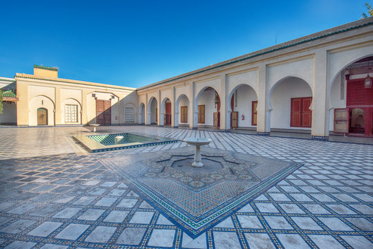 Dar Batha Museum in Fez Medina. Former royal palace and museum of national art, ethnography and the cultural activities. Madrasa in Fes , Morocco