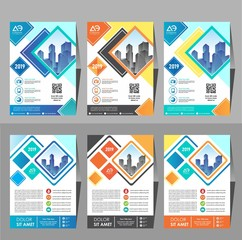 Business Brochure Background Design Template, Flyer Layout, Poster, Magazine, Annual Report, Book, Booklet with Building Image. Size A4 Vector Design illustration