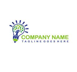 tree people in lamp logo