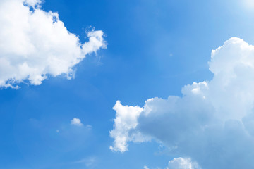 Blue sky with white cloud, weather and season concept background, nature background