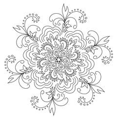 Stock Illustration Black and White Pattern