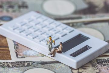 計算機と一万円札