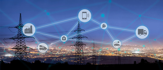 Smart Electricity Grids Wall mural