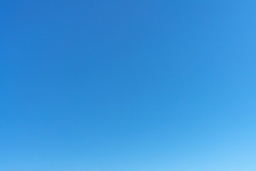 Clear blue sky, sky background