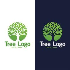 circle tree logo nature