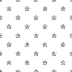 Silver Star Pattern. Glitter Look.