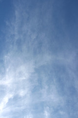 fresh clear blue sky with light cloud