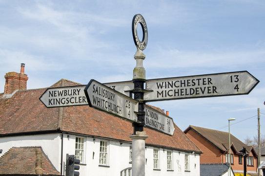 Overton Signpost, Hampshire