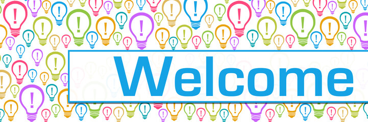 Welcome Bulbs Colorful Texture Text Horizontal