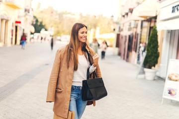 Girl at shopping