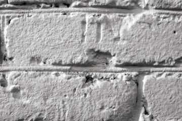 white brick old wall close-up