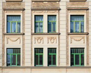 classical house facade windows pattern, Germany