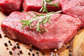 Foto op Canvas Vlees fresh meat with ingredients for cooking