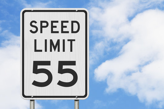 US 55 mph Speed Limit sign