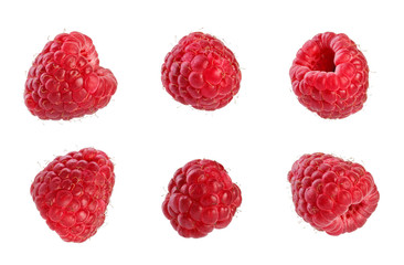 Collection of fresh raspberries.