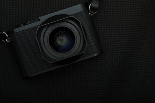 appareil photo de couleur noir