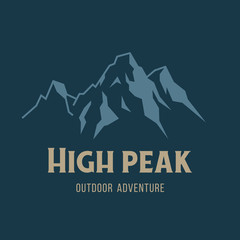 Vector mountain and outdoor adventures image
