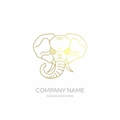 Animal Nature Farm Agriculture Business Company Stock Vector Logo Design Black Gold Template