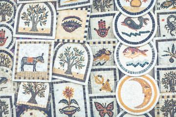 Poster de jardin Tunisie Traditional souvenir in tunisian market, Sidi Bou Said, Tunisia.