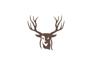 deer hunt with big horns logo