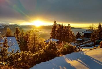 Sonnenuntergang am Rigi, Schweiz