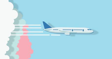 air travel concept Wall mural