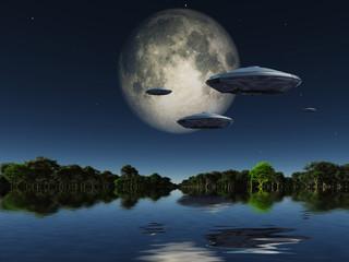 Spacecrafts in Water World