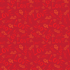 Pattern Love color holiday red