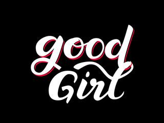 Good girl. Vector illustration