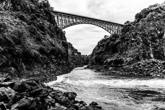 Victoria Falls Bridge BW