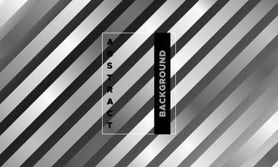 Abstract Geometric Monochrome Poster.