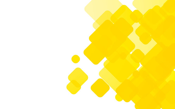 yellow rounded shapes background