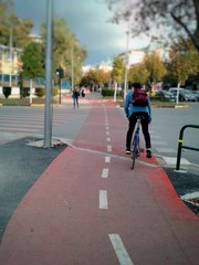 Bicycle track, Tirana, Albania