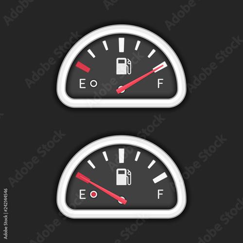 Vector fuel gauge
