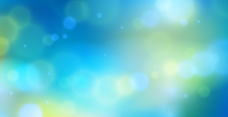 Blurred nature background defocused beyond the window, vector illustration out of focus beautiful summer or spring illustration.