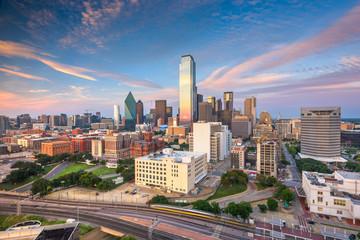 Dallas, Texas, USA skyline over Dealey Plaza